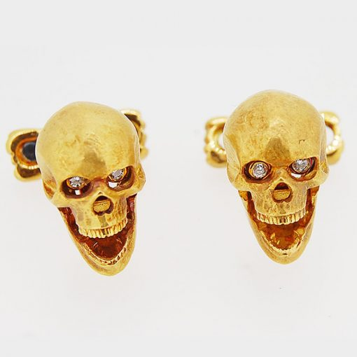 18ct-Gold-Cuff-links-diamond-eyes