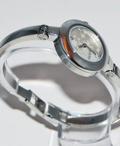 Ladies-Gucci-Stainless-Steel-Bangle-Watch