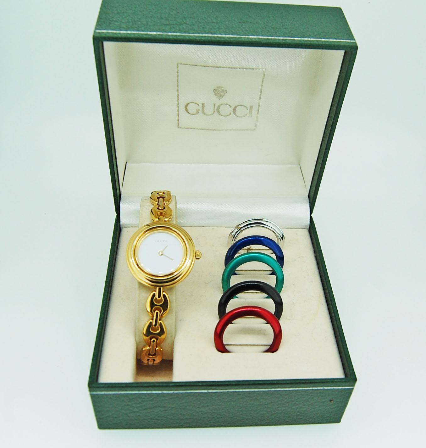 21949ba5241 Ladies Retro Gucci Bracelet Watch with 4-2 – Krafft Jewellers
