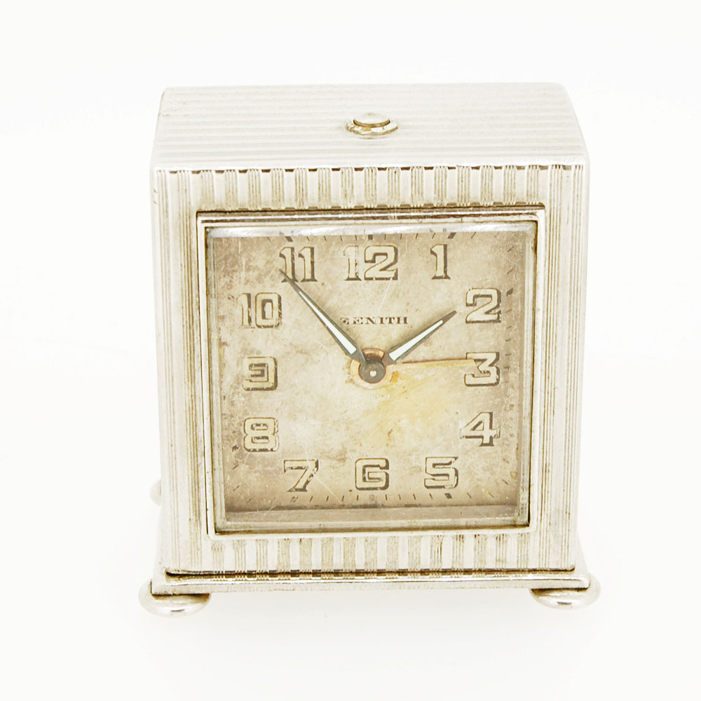 Art deco zenith travel alarm clock krafft jewellers Art deco alarm clocks